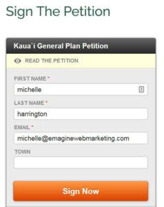 Kauai General Plan Petition