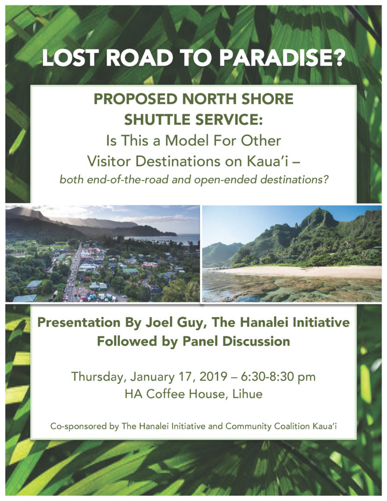 Proposed Kauai North Shore Shuttle Service